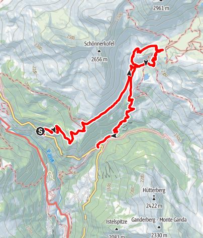 Karte / Kleine Schneebergrunde im hinteren Passeiertal