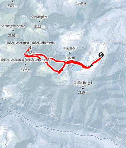 Karte / Gr. Bösenstein (2448 m) von der Edelrautehütte