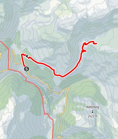 Karte / Aufstieg vom Gasthaus Schönau zum Schneeberg