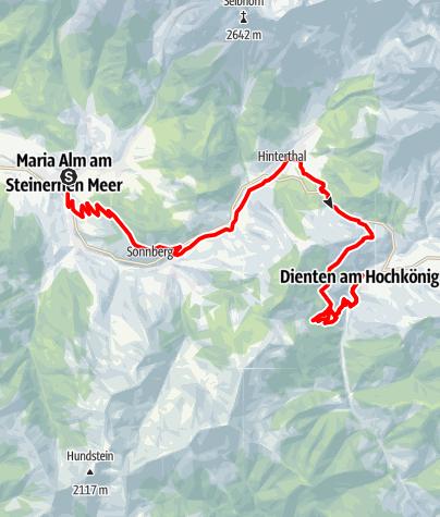 Karte / Königstour - 1. Etappe