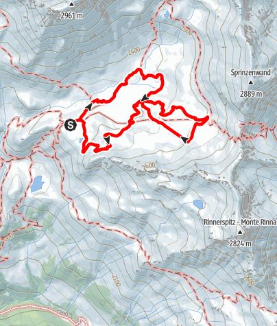 Karte / Mittlerer und oberer Erlebnispfad am Schneeberg