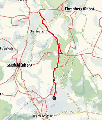 Karte / Von der Würzburger Bergbund Hütte zur Wasserkuppe
