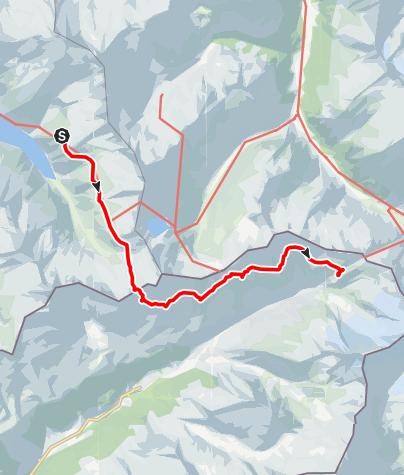 Karte / Übergang Plauener Hütte - Birnlückenhütte