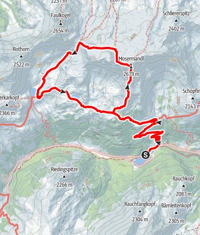 Karte / Mosermandl (2.680m) - Südaufstieg und Abstieg über Windischscharte