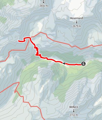 Karte / Stierkarkopf (2.365m)