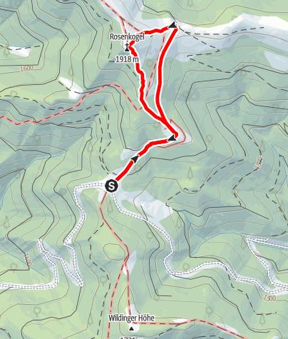 Karte / Rosenkogel