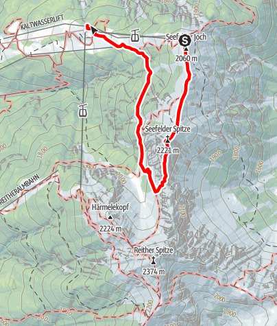 Karte / Seefelder Spitze
