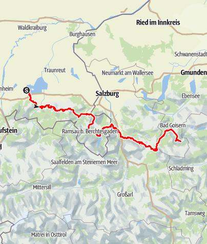 Karte / SalzAlpenSteig