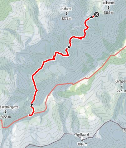 Map / Etappe 1: Innsbrucker Hütte - Bremer Hütte