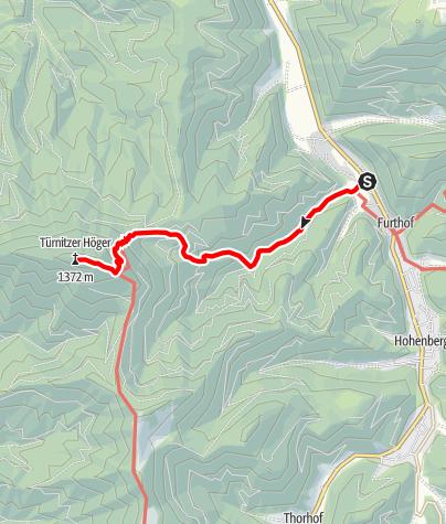 Karte / Zustieg von Furthof durch den Dachsgraben zur Türnitzer Hütte