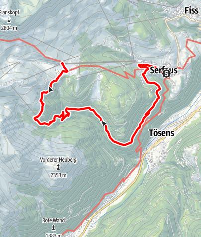 Karte / 13 Rieserwald und Lawenswald