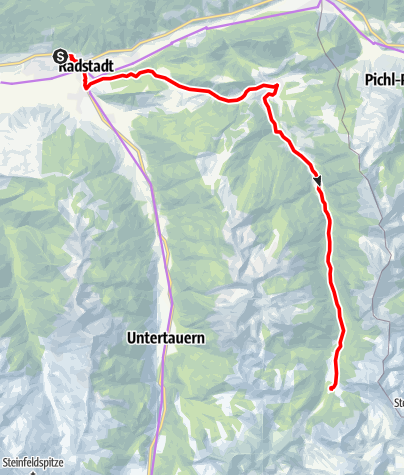 Karte / Mit dem E-Bike zum Talschluss Forstauwinkl