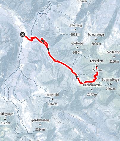 Karte / Kerschkern (2227 m) aus dem Triebental, Triebener Tauern