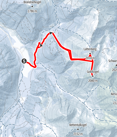 Karte / Lattenberg + Goldkogel, Rottenmanner Tauern