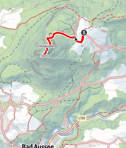 Map / Aussichtswarte Tressenstein vom Tressensattel