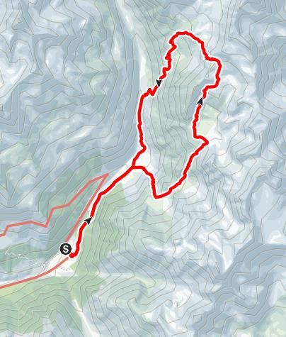 Karte / Zu den Saldurseen