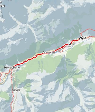 Karte / 43.17 Trun - Disentis, Jakobsweg Graubünden