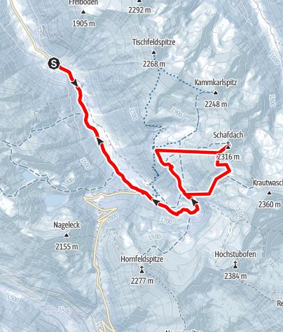 Karte / Schafdach 2314 m, Firntour im Sölktal