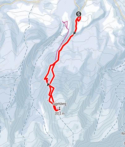 Karte / Lagersberg 2014 m im Warscheneckgebiet