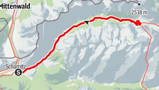 Map / 2 Tagestour von Scharnitz zum Karwendelhaus und wieder zurück